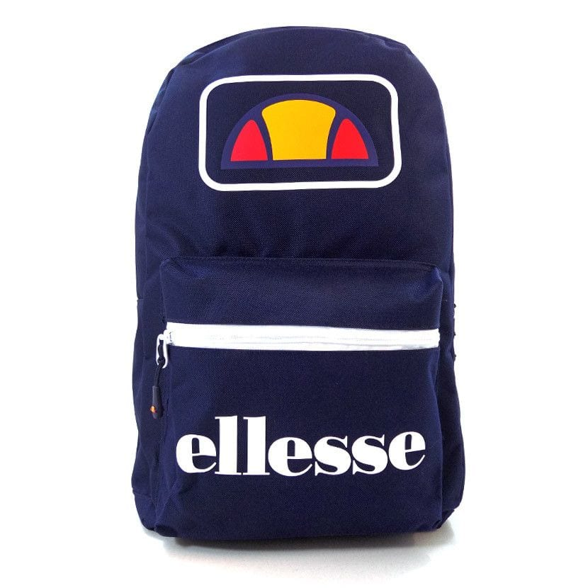 ellesse basic backpack front zip navy ell948n 096