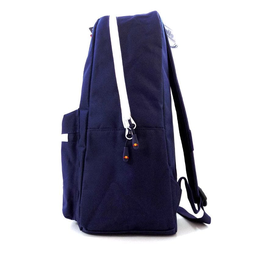 ellesse basic backpack front zip navy ell948n 754