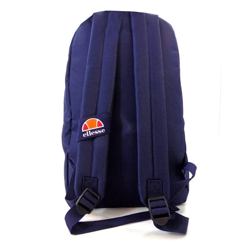 ellesse basic backpack front zip navy ell948n ab4
