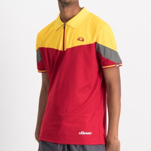 ellesse contrast colour golfer mens chilli pepper ell846cp 316