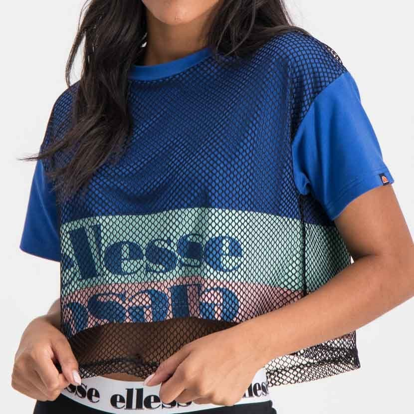 ellesse graphic t shirt with mesh overlay womens galaxy blue ell895bl 625