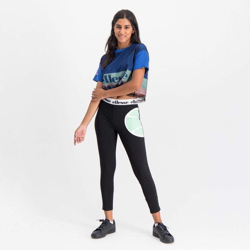 ellesse graphic t shirt with mesh overlay womens galaxy blue ell895bl 721