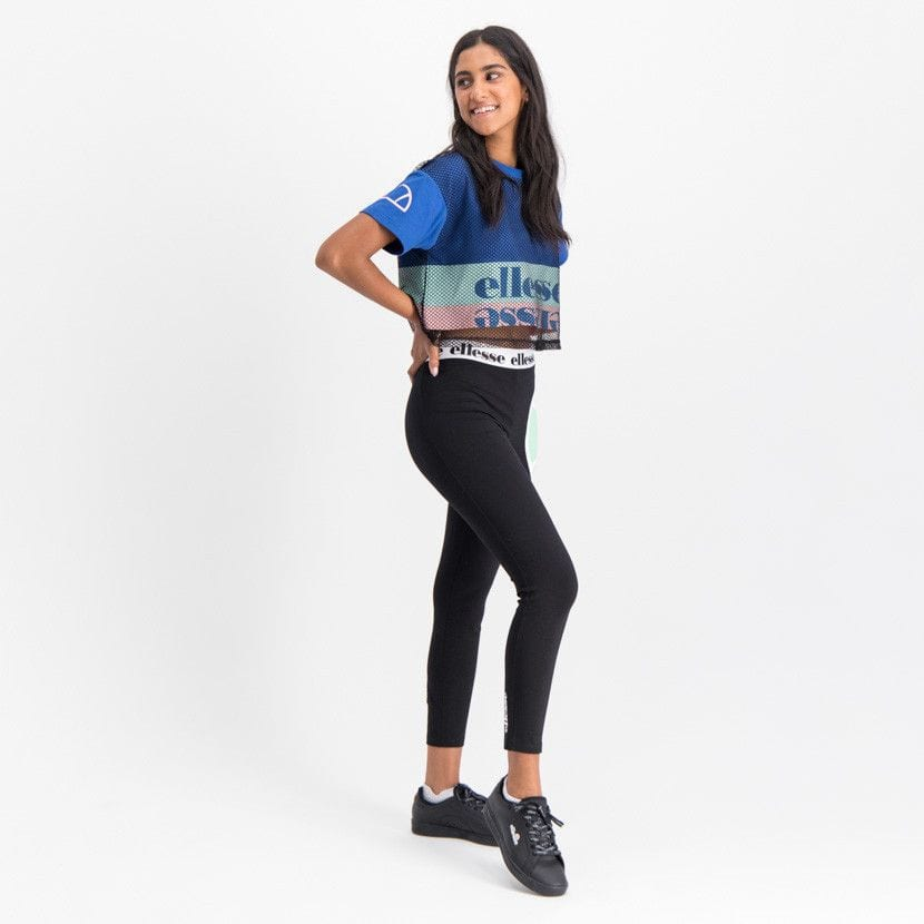 ellesse graphic t shirt with mesh overlay womens galaxy blue ell895bl 829