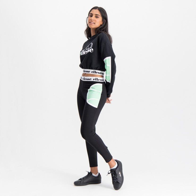 ellesse jumper with dropped shoulder elasticated waist womens black ell896b 83a