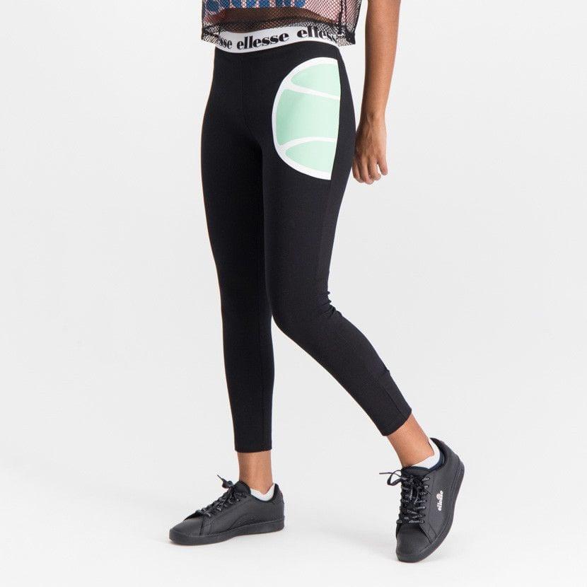 ellesse leggins with printed elastic waist womens black ell902b 05a
