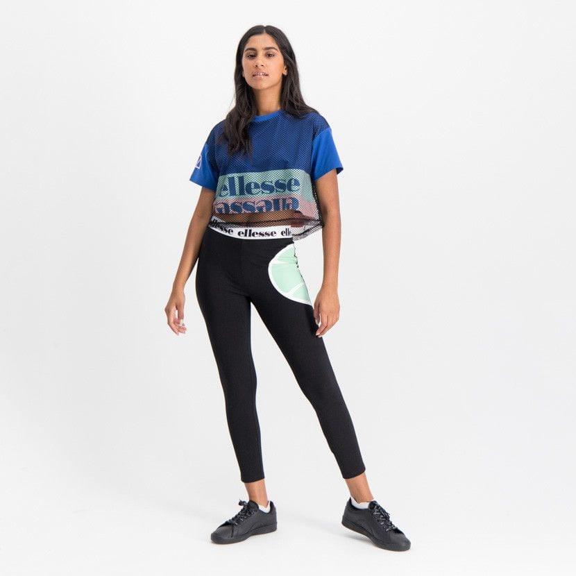 ellesse leggins with printed elastic waist womens black ell902b 5eb