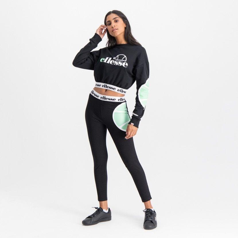 ellesse leggins with printed elastic waist womens black ell902b 62c