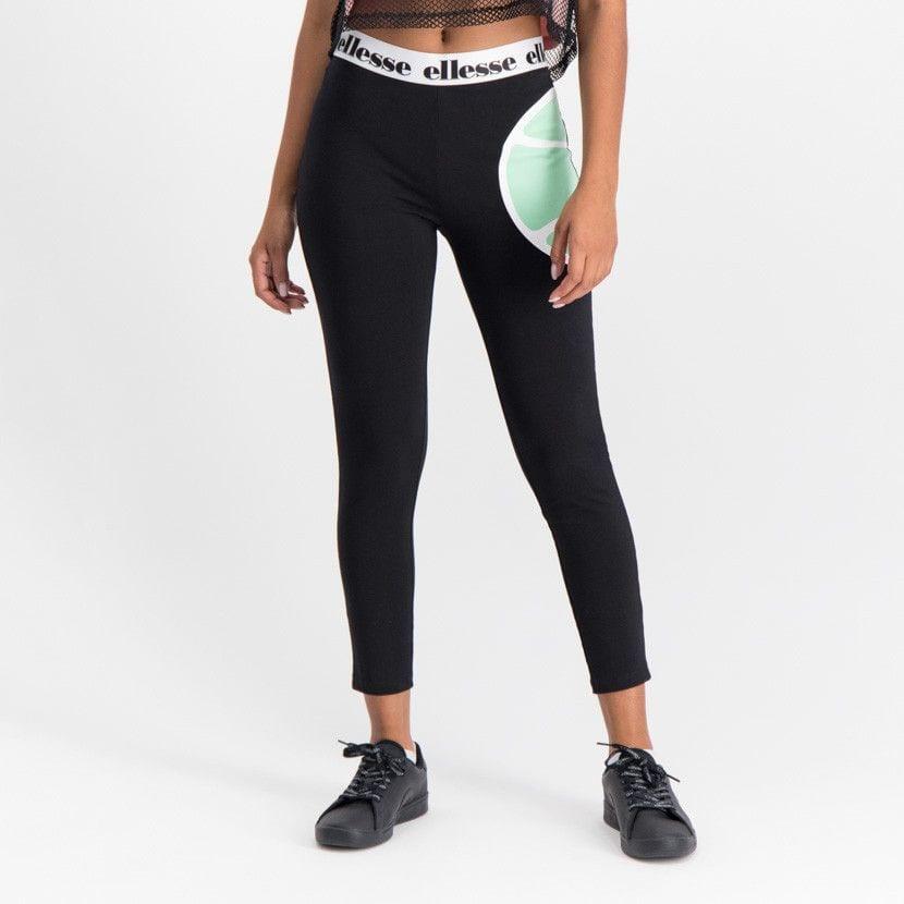 ellesse leggins with printed elastic waist womens black ell902b 77f