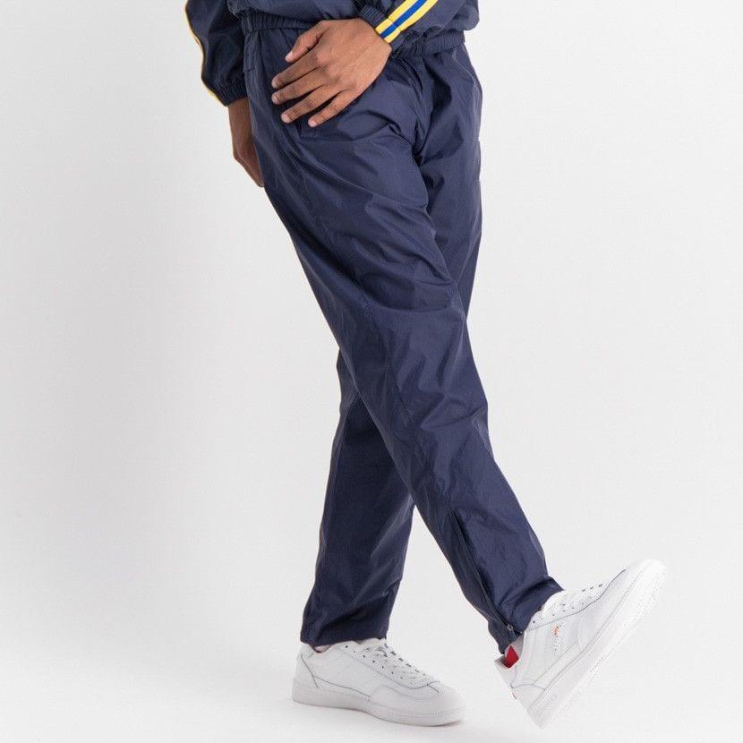 ellesse open leg mesh lined basic pants mens dress blue ell884db 017