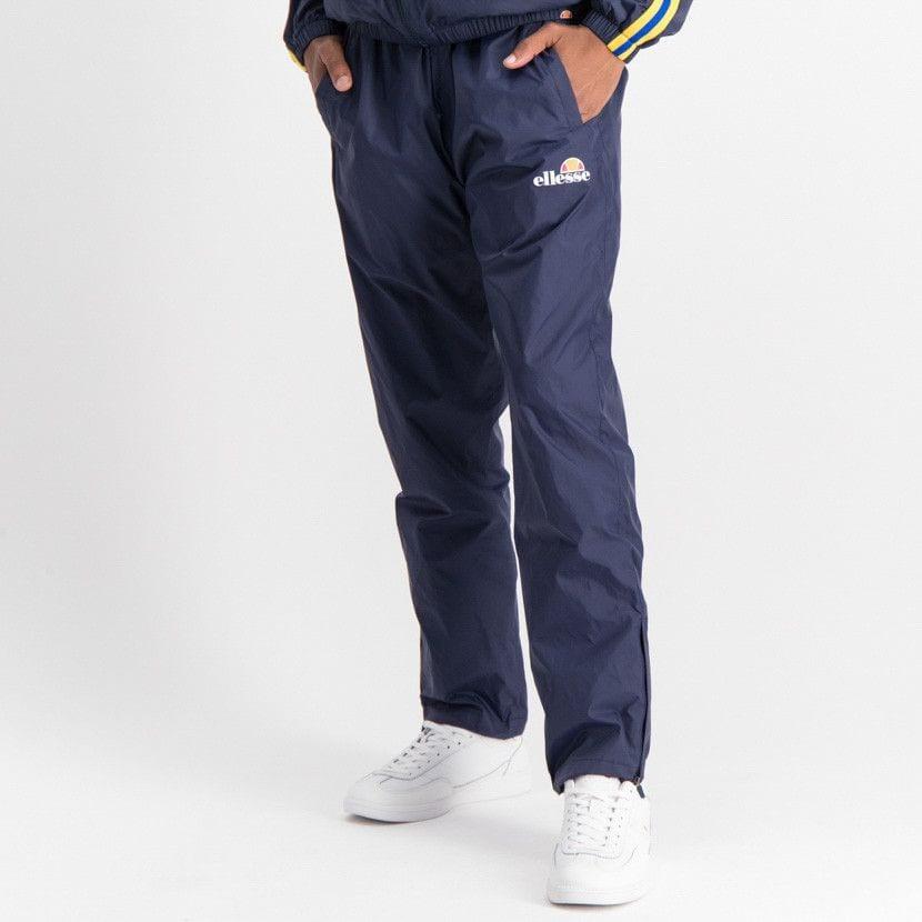 ellesse open leg mesh lined basic pants mens dress blue ell884db 028