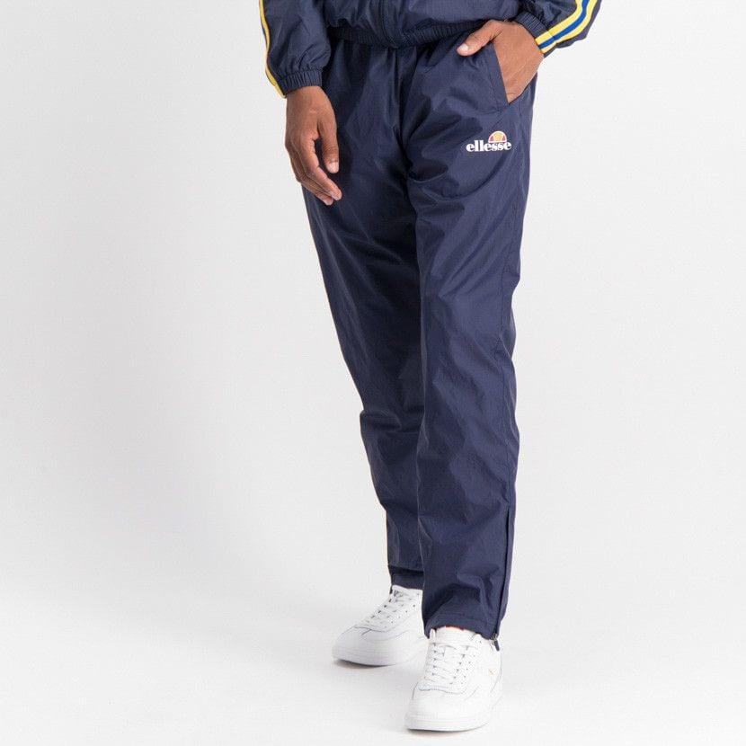 ellesse open leg mesh lined basic pants mens dress blue ell884db 379