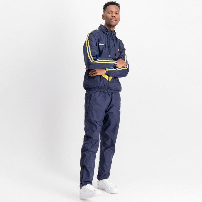 ellesse open leg mesh lined basic pants mens dress blue ell884db 7eb