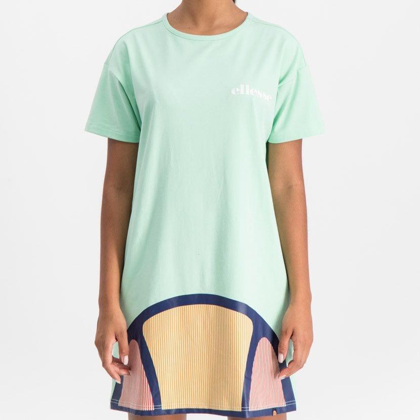ellesse t shirt dress with oversized logo womens green ell900gr 522