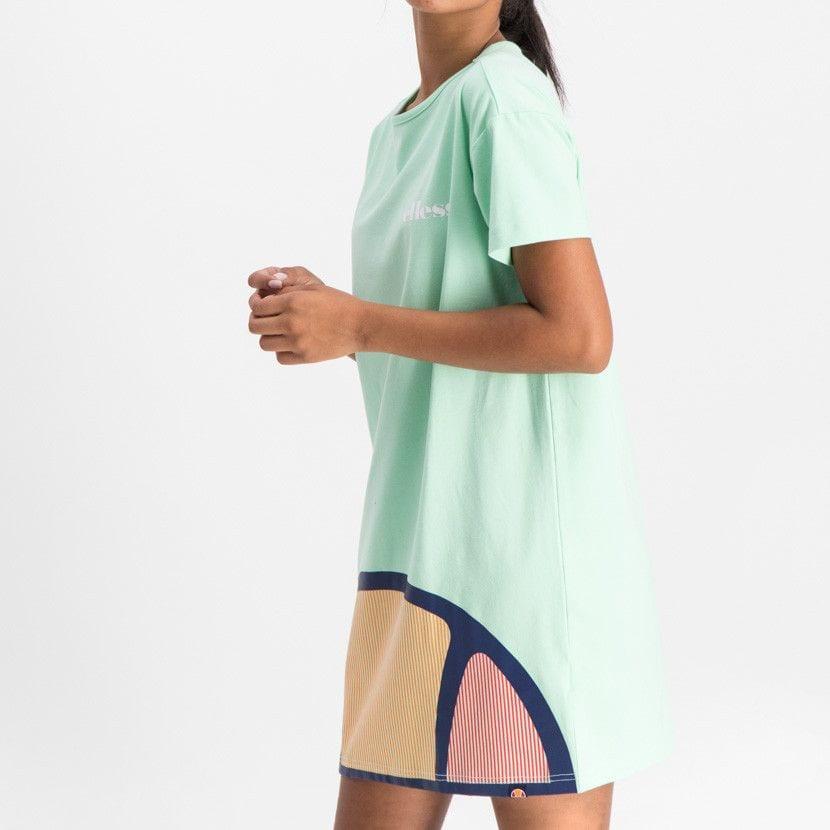 ellesse t shirt dress with oversized logo womens green ell900gr 64a