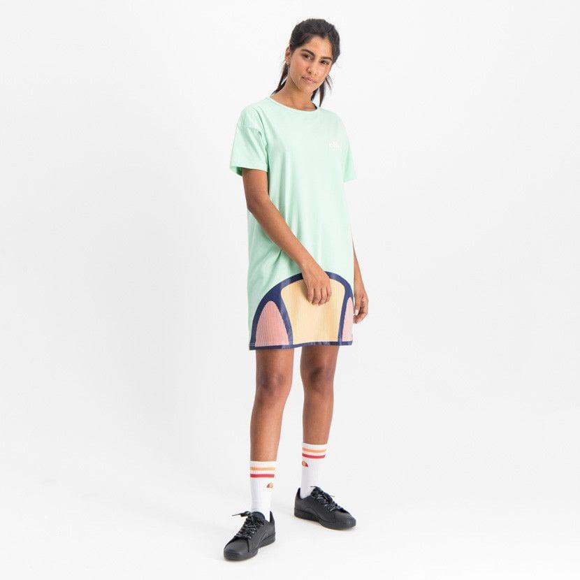 ellesse t shirt dress with oversized logo womens green ell900gr 77b
