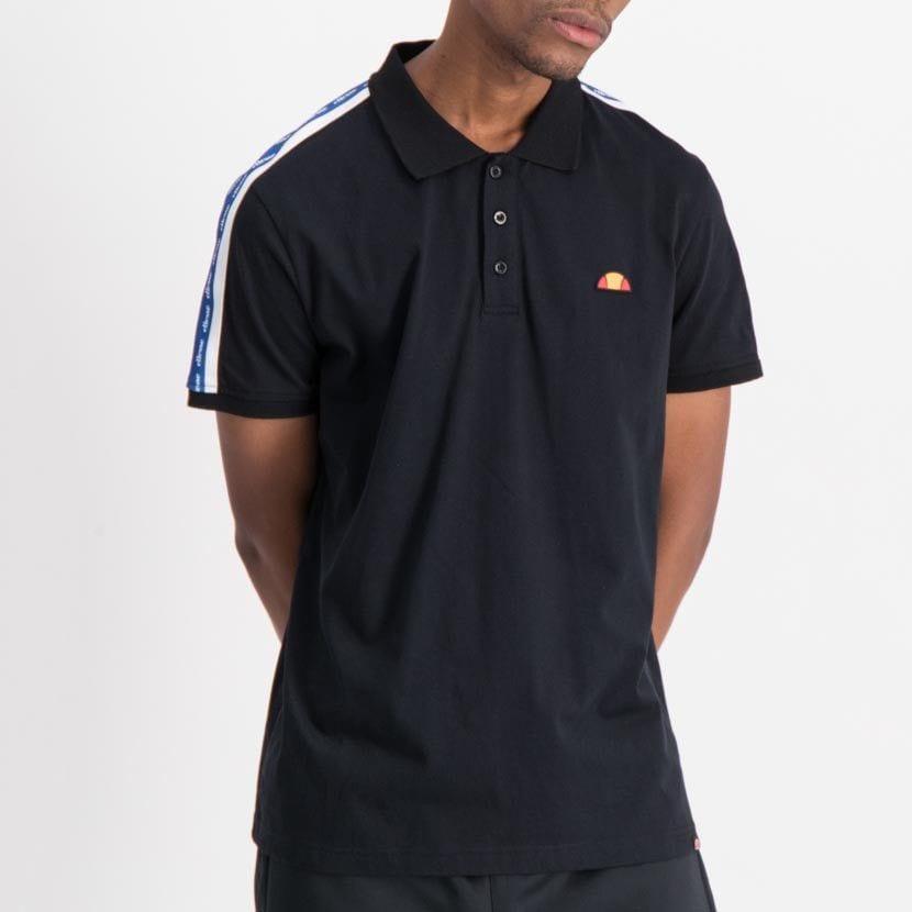 ellesse tape detail fashion golfer mens black white nautical blue ell848db 984