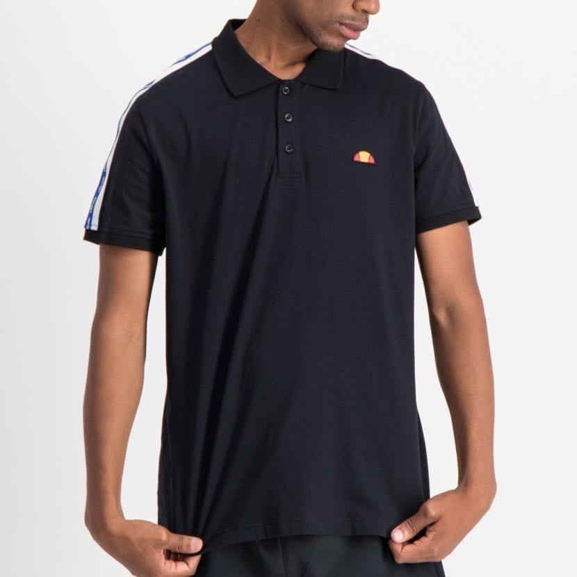 ellesse tape detail fashion golfer mens black white nautical blue ell848db f6b