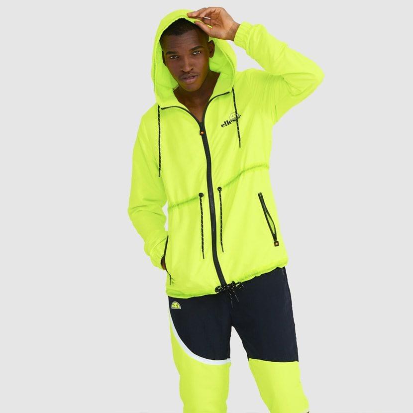 ellesse Corpus Hooded Jacket Neon Yellow ELL927Y V2