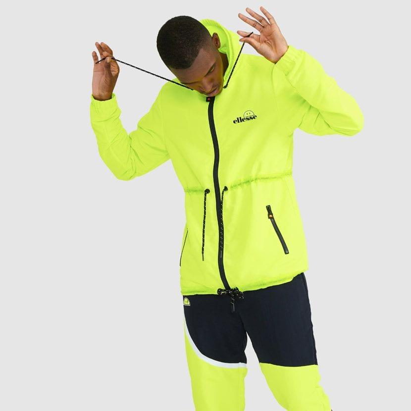 ellesse Corpus Hooded Jacket Neon Yellow ELL927Y V3