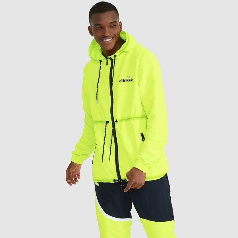ellesse Corpus Hooded Jacket Neon Yellow ELL927Y V4