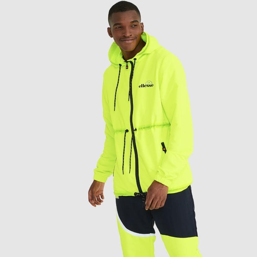 ellesse Corpus Hooded Jacket Neon Yellow ELL927Y V5