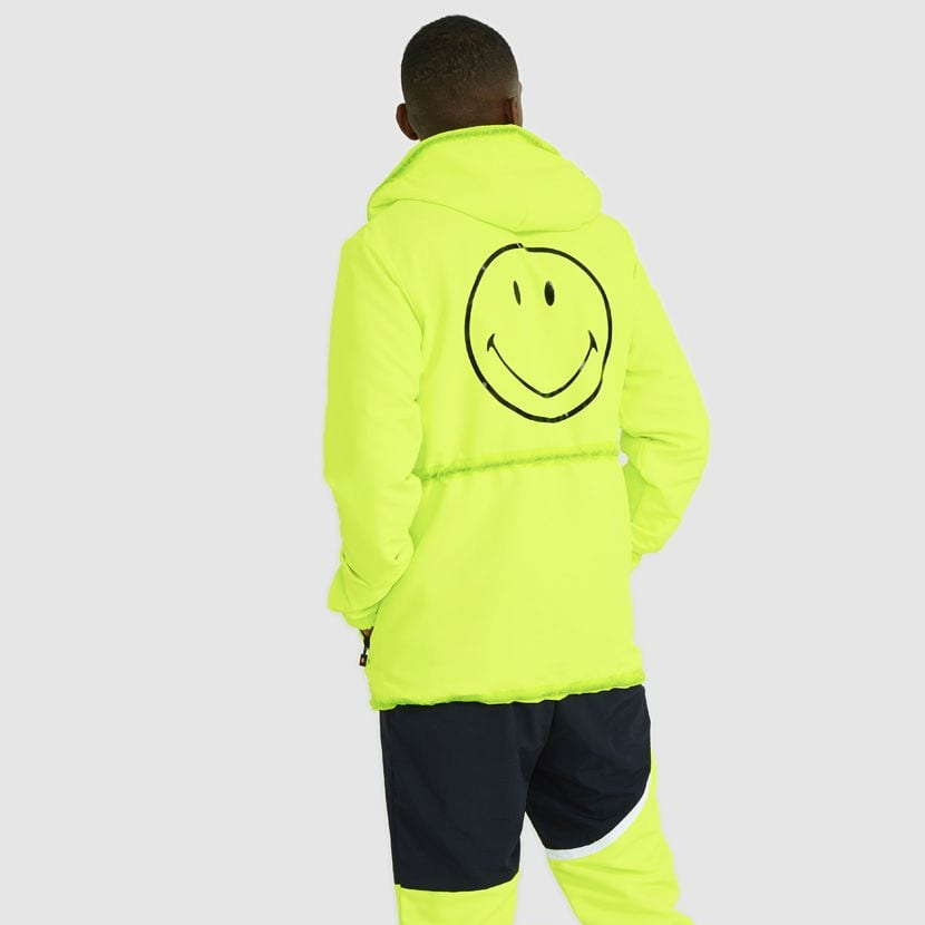 ellesse Corpus Hooded Jacket Neon Yellow ELL927Y V6