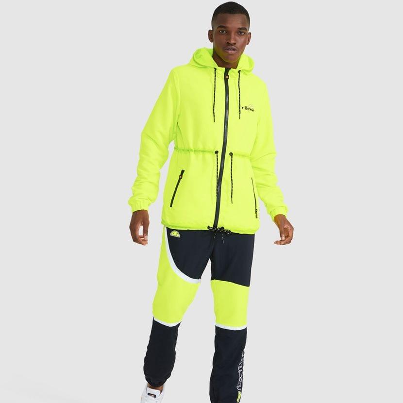 ellesse Corpus Hooded Jacket Neon Yellow ELL927Y V7