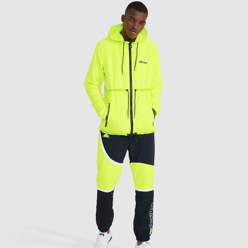 ellesse Corpus Hooded Jacket Neon Yellow ELL927Y V8