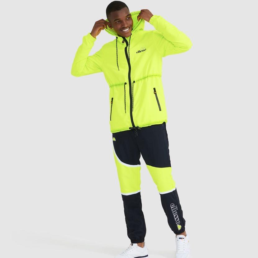 ellesse Corpus Hooded Jacket Neon Yellow ELL927Y V9