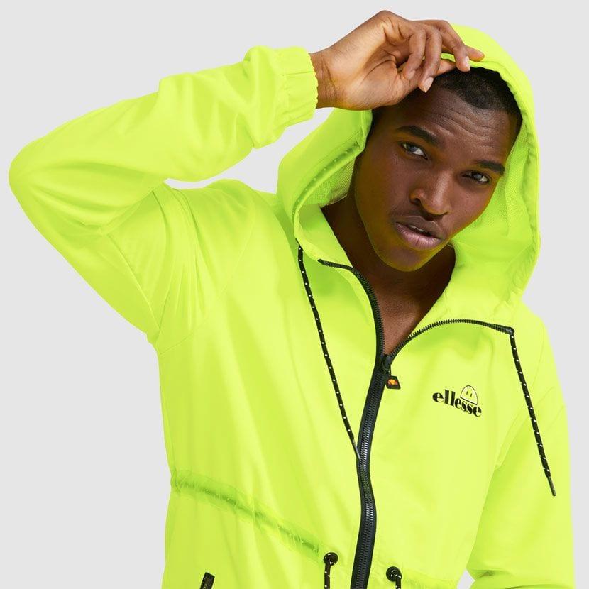 ellesse Corpus Hooded Jacket Neon Yellow ELL927Y