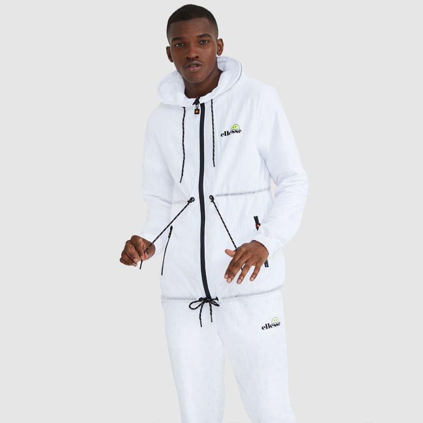 ellesse Corpus Hooded Jacket White ELL927W V3