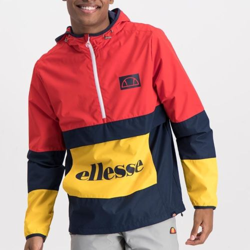 ELL1020R ELLESSE MENS CONTRAST PANEL SIDE ZIP MICROFIBRE HOODED JACKET ELS20 0066A Full CR2 5 5