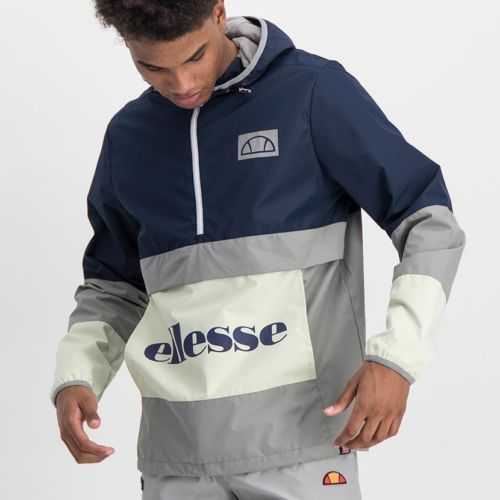 ELL1020SB ELLESSE MENS CONTRAST PANEL SIDE ZIP MICROFIBRE HOODED JACKET ELS20 0066A Full CR2 1 6