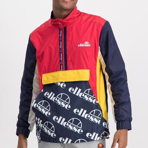 ELL1022DB  ELLESSE LIGHTWEIGHT PRINTED NYLON CONTRAST COLOR JACKET ELS20 0068A Full CR2 2 5