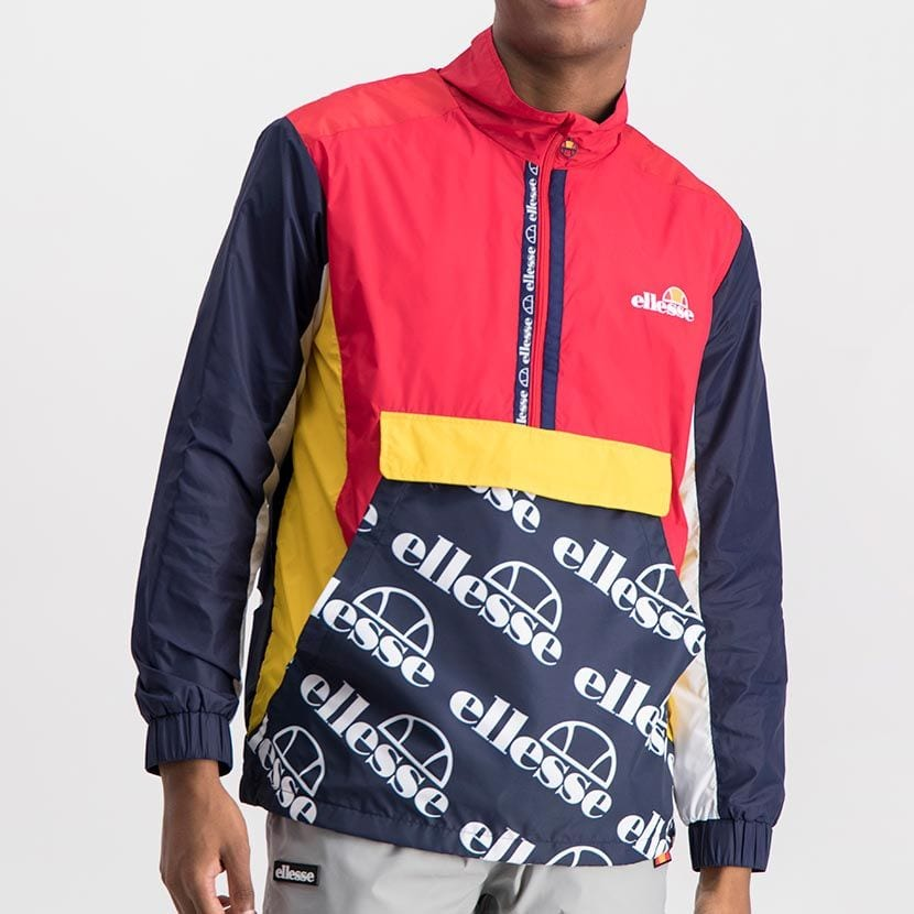 ELL1022DB  ELLESSE LIGHTWEIGHT PRINTED NYLON CONTRAST COLOR JACKET ELS20 0068A Full CR2 2 8