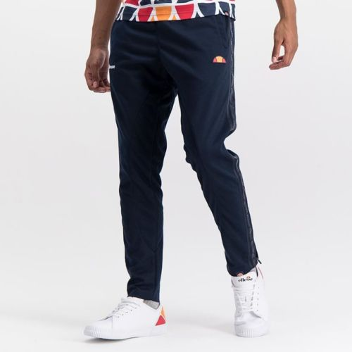 ELL1029DB ELLESSE MENS CONTRAST SIDE STRIPE PIQUET OPEN LEG TRACK PANTS ELS20 0074B Full CR2 11 3