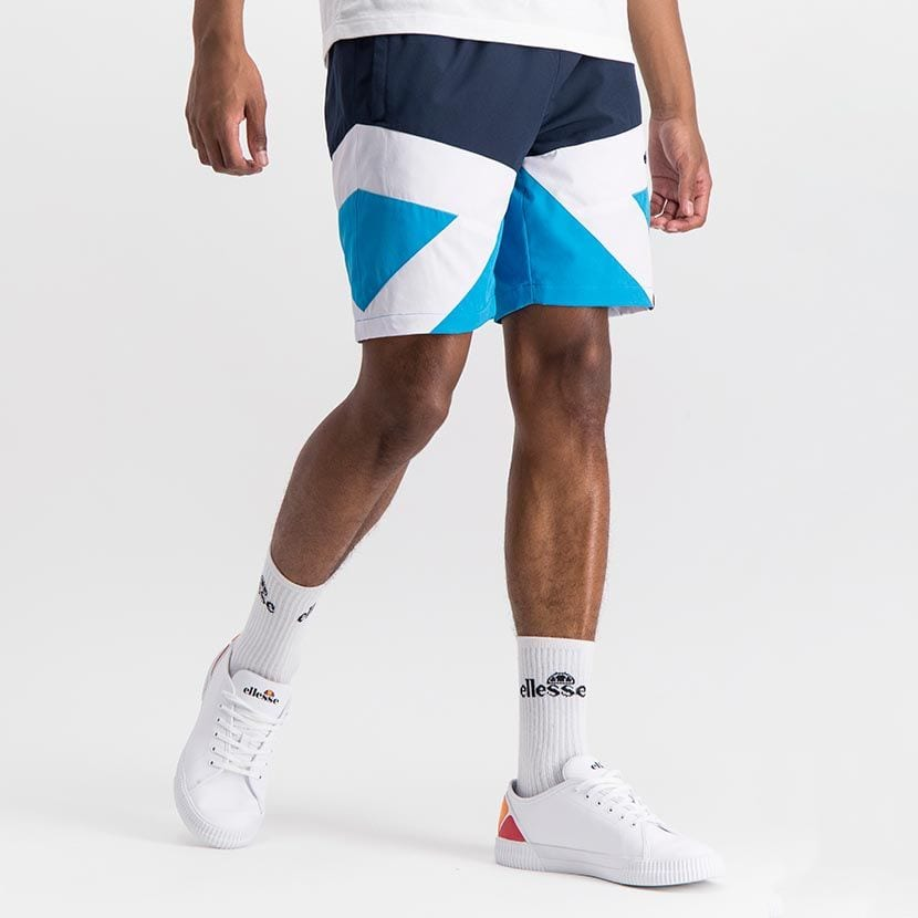 ELL1038DB ELLESSE MENS CONATRST DIAGONAL STRETCH NYLON MESH LINED SHORTS ELS20 0087B Full CR2 10 4