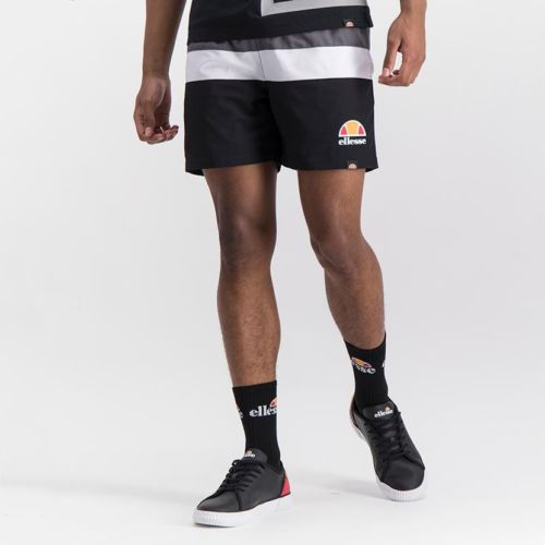 ELL1039BC ELLESSE MENS CONTRAST STRIPE STRETCH NYLON MESH LINED SHORTS ELS20 0081B Full CR2 13 2