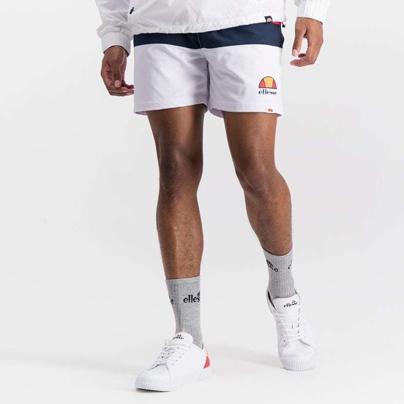 ELL1039W ELLESSE MENS CONTRAST STRIPE STRETCH NYLON MESH LINED SHORTS ELS20 0081B Full CR2 4 4