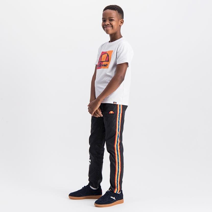 ELL1043YB ELLESSE BOYS RAINBOW SIDE LEG PANNEL FASHION PANTS ELS20 0102BB Full CR2 7 7