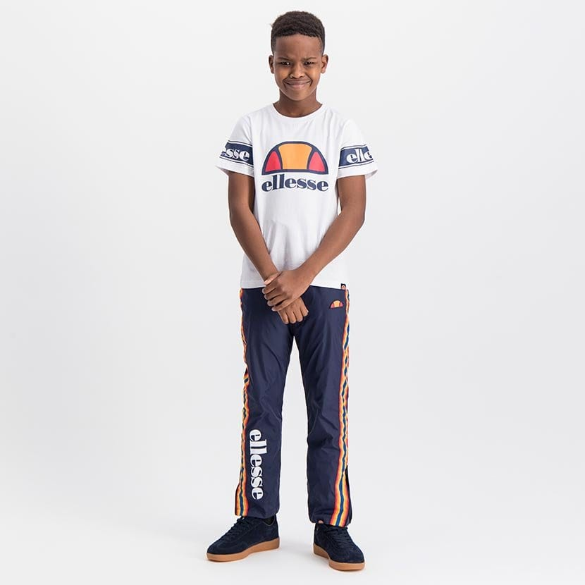 ELL1058YW ELLESSE BOYS SLEEVE CHEST PRINT FASHION LOGO T ELS20 0098AB Top CR2 5 3