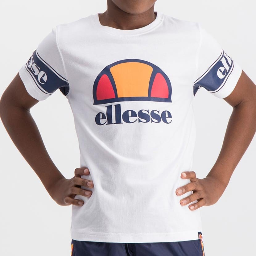 ELL1058YW ELLESSE BOYS SLEEVE CHEST PRINT FASHION LOGO T ELS20 0098AB Top CR2 5 7