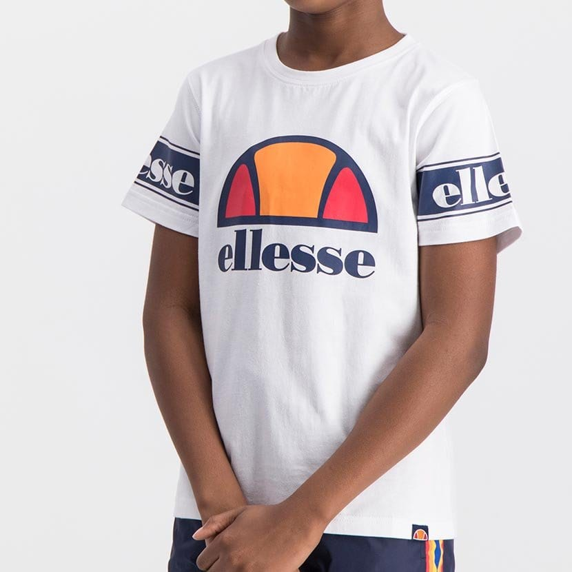 ELL1058YW ELLESSE BOYS SLEEVE CHEST PRINT FASHION LOGO T ELS20 0098AB Top CR2 5 8