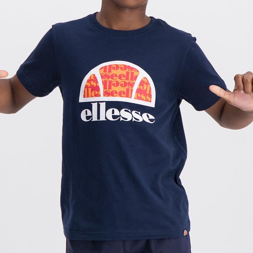 ELL1060YDB ELLESSE BOYS LARGE INSET WORD LOGO T ELS20 0106AB Top CR2 9 1