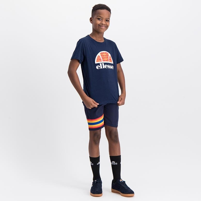 ELL1060YDB ELLESSE BOYS LARGE INSET WORD LOGO T ELS20 0106AB Top CR2 9 2