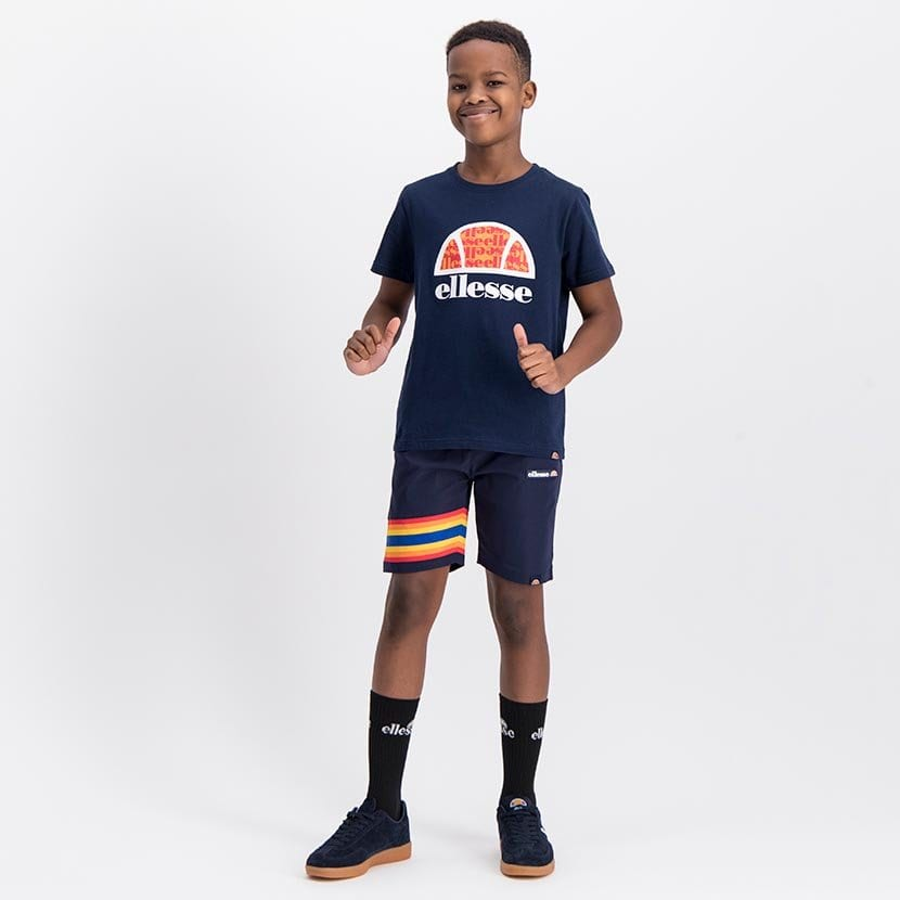ELL1060YDB ELLESSE BOYS LARGE INSET WORD LOGO T ELS20 0106AB Top CR2 9 3
