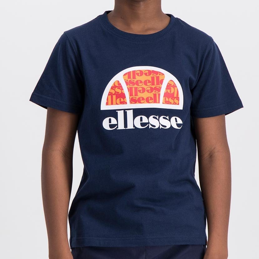 ELL1060YDB ELLESSE BOYS LARGE INSET WORD LOGO T ELS20 0106AB Top CR2 9 6