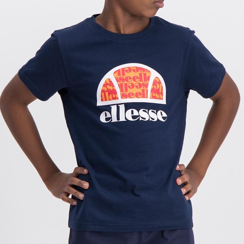 ELL1060YDB ELLESSE BOYS LARGE INSET WORD LOGO T ELS20 0106AB Top CR2 9 8