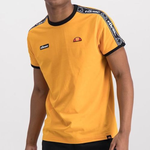 ELL716RY ELLESSE TAPE INSET FASHION RUBBER BADGE T SHIRT ELS19 608A Top CR2 9 6