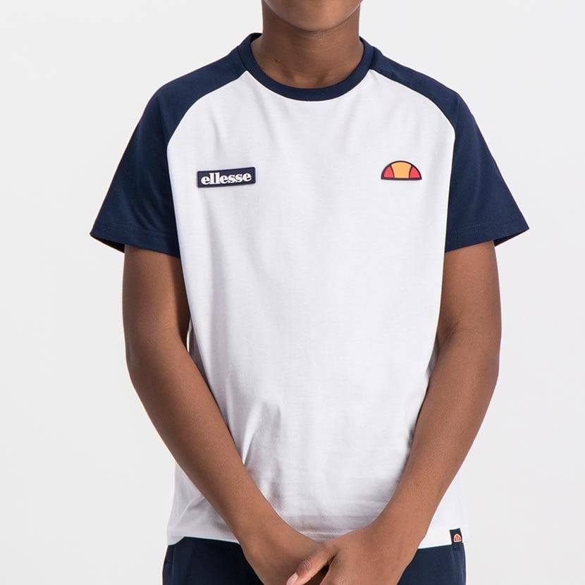 ELL793YW ELLESSE BOYS CONTRAST RAGLAN T WITH SHOULDER PRINT  ELS19 614AB Top CR2 10 8